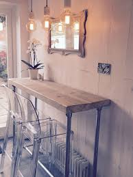 breakfast bar industrial style whitewashed reclaimed wood scaffold breakfast bar