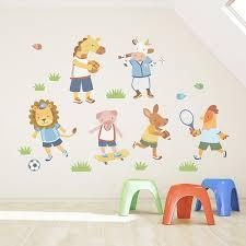 animal sports team printed wall decal animal sports team standard printed wall decal