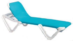 Outdoor Chaise Lounge Chair Grosfillex Nautical Adjustable Resin Sling Chaise Lounge Chair W O