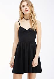 fit and flare dress forever 21 forever 21 cami fit flare dress in black lyst