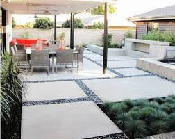 Backyard Stamped Concrete Ideas Concrete Backyard Design Triyae Concrete Patio Ideas Small
