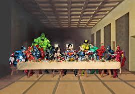 superheroes last supper