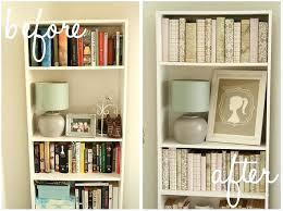 decorating a bookshelf decorated bookshelf idea 7 cover books in uniform paper christmas