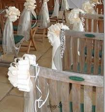 pew decorations ceremony pew bows decorations creative flower weddings