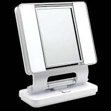 Lighted Vanity Mirrors Ottlite Natural Lighted Makeup Mirror White Vanity Lighted