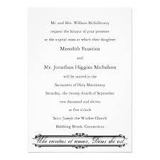 Wedding Invitation Examples Traditional Catholic Wedding Invitation Wording Stephenanuno Com