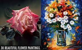Nice Flowers 40 Beautiful And Realistic Flower Paintings For Your Inspiration