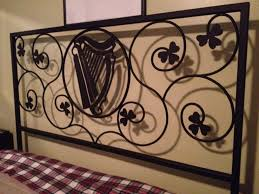 custom wrought iron bed frame metal elements