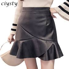 ciysty 2017 autumn vintage women fashion korean pu leather