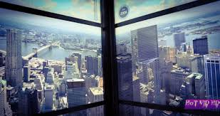 one world trade center elevator ride show animated new york