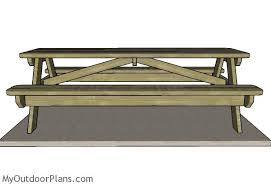 Plans For A Picnic Table With Separate Benches by 8 Foot Picnic Table Plans Myoutdoorplans Free Woodworking