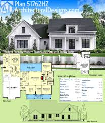 modern farmhouse plan with 2 beds and semi detached garage plans