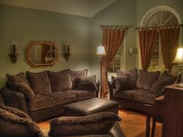 fresh decoration curtains for living room with brown furniture