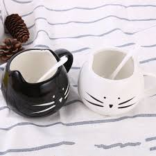 online shop 1pcs novelty cute cat animal milk mug ceramic creative