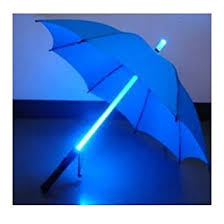 Patio Umbrellas With Led Lights Led Light Umbrella Blue With Blue Lighted Rod Patio Umbrella