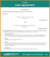 Sample Roommate Contract 5 Sample Loan Agreement Warehouse Clerk