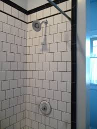Tiled Shower Ideas by Gray Subway Tile Shower Ideas Amazing Tile