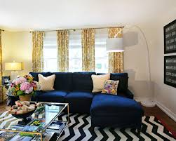 Rugs And Curtains 15 Lovely Living Room Designs With Blue Accents Navy Sofa