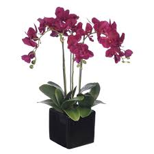 silk orchids house of silk flowers artificial purple
