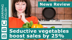 bbc news review seductive vegetables boost sales by 25 youtube
