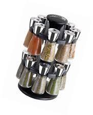 Revolving Spice Rack 20 Jars Olde Thompson Stainless Steel 20 Jar Revolving Spice Rack Ebay