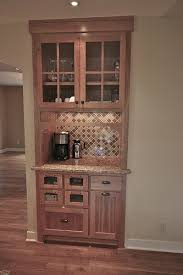 replace existing closet with coffee station bar in matching