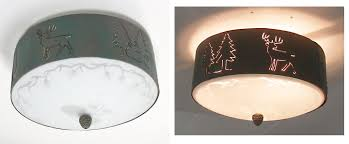 Cabin Light Fixtures by Copper Canyon Cl840 Lodge And Cabin Ceiling Light