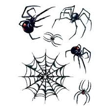 halloween spider and web temporary tattoos for your costume