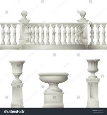 Outdoor Vase Outdoor Park Elements Balustrade Decorative Vase Stock Vector