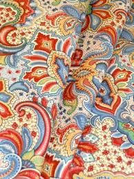 Home Decorator Fabric Color Paisley Floral Design Decorator Fabric
