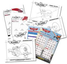 planes colouring activity sheets