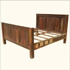 reclaimed wood rustic distressed bed headboard u0026 footboard f