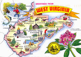 large tourist illustrated west virginia