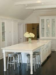 white kitchen with long island kitchens pinterest kitchen cabinet island table elegant white kitchen island with