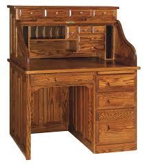 Pine Secretary Desk by Roll Top Desk