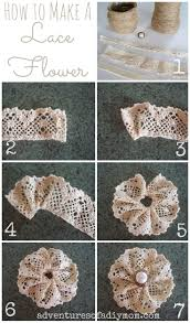 How To Sew Burlap Curtains Best 25 Lace Flowers Ideas On Pinterest Fabric Flowers Easy