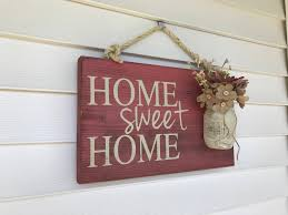spring home sweet home mothers day rustic outdoor sign