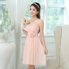 light pink short dress online shop wholesale light pink bridesmaid party dress short pleat