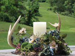 deer antler centerpiece made to order rustic flower arrangement