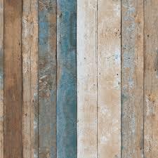 vintage wood wallpaper rolls turquoise blue sand brown wooden