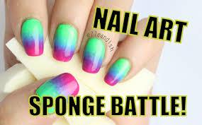 nail art sponge battle latex vs non latex youtube