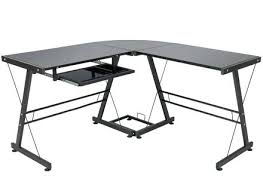 L Shaped Black Glass Desk Glass L Desk Medium Size Of Glass L Desk Black Glass Desks Home