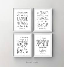 Winnie The Pooh Curtains For Nursery by Winnie The Pooh Disney Movie Quote Poster Set Of 4 Nursery Art