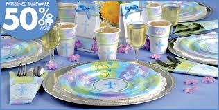 confirmation party supplies blue sweet religious party supplies party city