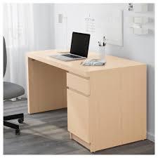 Oak Veneer Computer Desk Malm Desk White Stained Oak Veneer 140x65 Cm Ikea