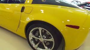 corvette warehouse dallas 2010 4lt yellow grand sport walk around corvette dallas