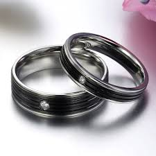 wedding rings his and hers matching wedding bands titanium
