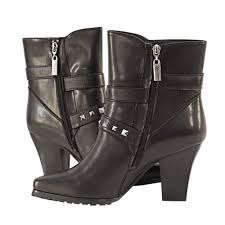 womens xelement boots xelement womens 2 buckle stud leather biker boots xelement