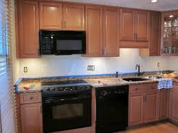 Kitchen Without Island Dark Brown Laminated Wooden Cabinet Kitchen Without Windows Design