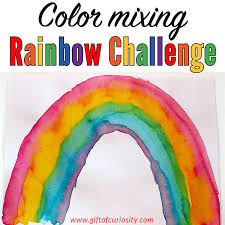 what colors make purple color mixing rainbow challenge putting color theory into practice